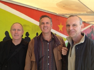 Bill Yarbrough with Dave and Jim DeWitt at the border crossing in Mexico