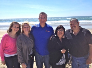 Hannah, Dawn and Dave with Yolanda and Daniel Nuñez in Rosarito - south of TJ