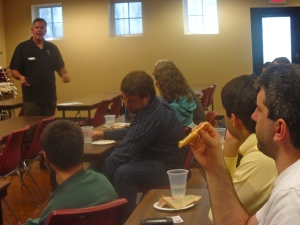 Dave sharing with the seminary students at Covenant