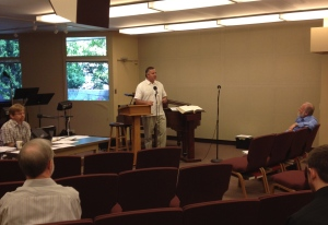 Dave speaking at Church in the Canyon
