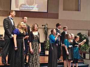 The Graduates leading us in Worship - Hosanna!