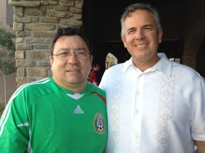 Juan Arjona and Dave in Juarez