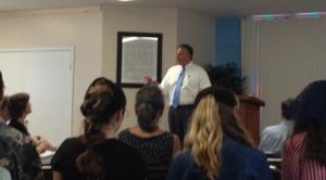 Dave preaching at Covenant Presbyterian Church