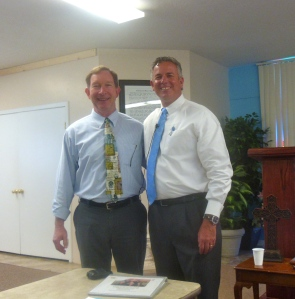 Dave with Pastor Randy Martin