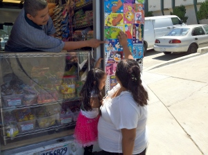 Jose selling Candy in City HeightsJose selling Candy in City Heights