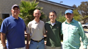 Our neighborhood evangelistic team - Dave, Jim, Zach and Ray