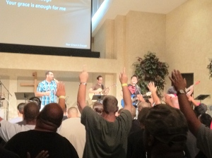 Worship at the Men's Retreat