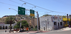 On the US side getting ready to cross into Nogales, Mexico