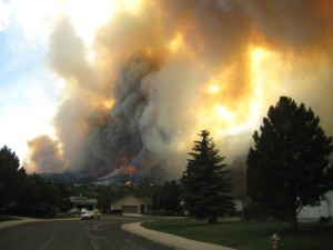 This photo was taken from Tom Graham's house as they were leaving at 4:30 PM on Tuesday