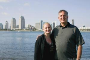 Dawn & Dave with the San Diego Harbor in the background