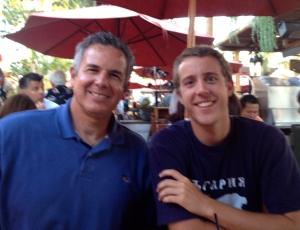 Dave with Zach Lutz