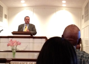Dr. Ben Taylor preaching at Timonium