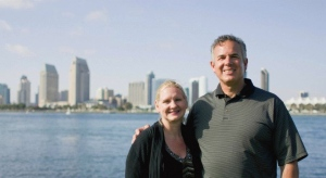 David & Dawn with the San Diego Harbor in the background
