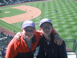 David & Jonathan at a Rockies Game