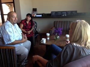 Pastor Leo & Gloria meeting with Janet Lambert at the YWAM center