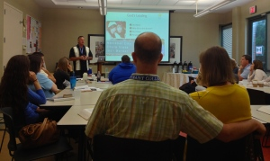 Dave presenting at MTW's vision retreat