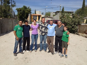 A group of us at the new church plant site in eastern Tijuana