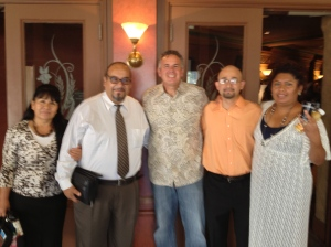 Pastor Leo & Gloria with Vicente & Billy with Dave in the middle