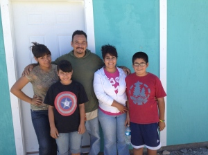 Pastor Rodrigo with his wife, Nancy and their children