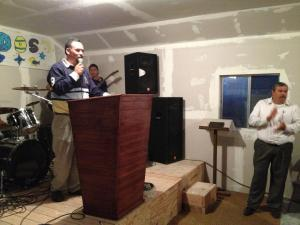 Pastor Rodrigo & Daniel Nuñez leading the new church