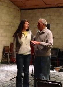 Emily with Edgardo Avila pastor of the Spanish church