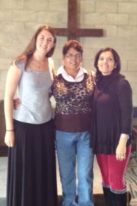 Emily with Oliva and Elizabeth