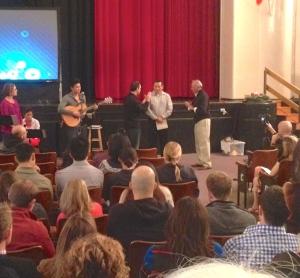 Moses show God changed his life with Harbor and pastors Stephen Phelan and Edgardo Avila