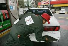 Pemex, gas station attendant, Mexico