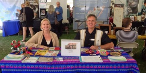 Dawn and Dave at our booth at the Biola global missions conference