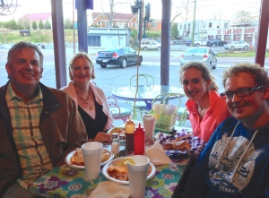 Dawn, David Jr. and me enjoying a southern meal with Susanna Griffith!