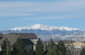 The beauty of Colorado Springs (taken by Terry Bradley)