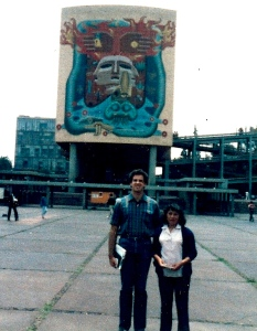 Dave sharing the gospel in Mexico City with Isabel Cisneros
