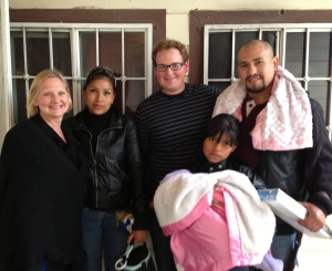 David Jr. and Dawn with the young couple that visited the church for the first time