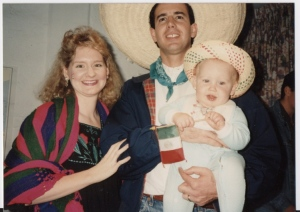 David Jr. celebrating Mexican Independence day with Dawn and Dave in Mexico City