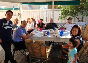"""A great time at the """"convivio"""" at our house on Sunday afternoon"""