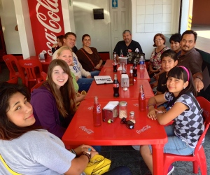 enjoying some tacos with Pastor Daniel Nuñez and Pastor Rodrigo Vallarta and their families in TJ