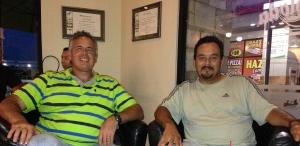 Dave and Rodrigo meeting over some coffee