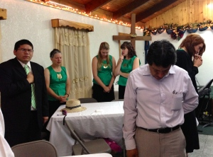 Prayer meeting in Ensenada