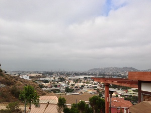 The view of Ensenada from the church site