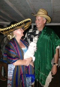 Dawn and Dave celebrating the Noche Mexicana