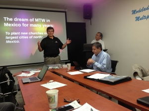 Andres Garza sharing about the dream of MTW for northern Mexico