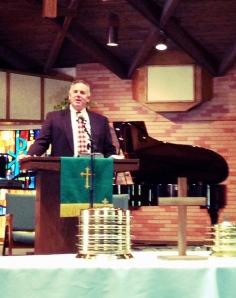 Dave preaching at Skyview Presbyterian Church