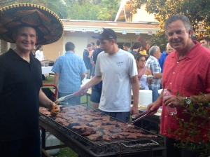 David Jr. & Dave cooking Carne Asada for the dinner at SDCC's missions fair