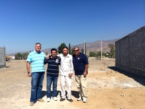 Dave with Pastor Ivan, Pastor Jose Luis and Pastor Daniel Nuñez
