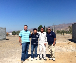 Dave with Daniel Nuñez and two of the church planters, Ivan Casados and Jose Luis Rivera
