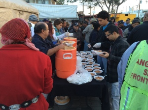 feeding the homeless at El Bordo