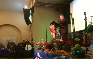 Pastor William Galdamez sharing the good news!