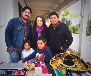 Tury Nuñez with Martha and Abraham Velazquez and their children Salmai and Gadiel