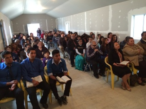 A full house to celebrate the new church