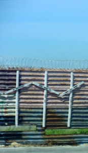 Crosses on the border fence